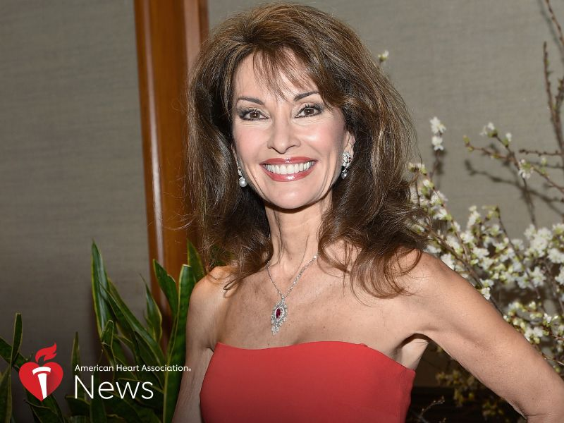 News Picture: AHA News: Actress Susan Lucci Thriving After Emergency Heart Procedure