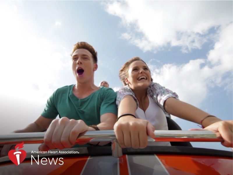 News Picture: AHA News: Are Thrill-Seekers With Heart Conditions Courting Danger?
