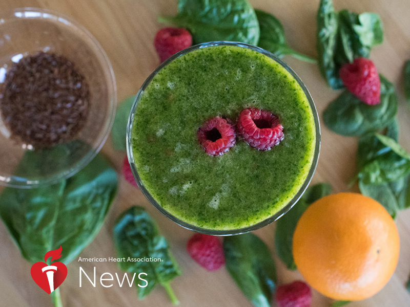 News Picture: AHA News: Tropical Smoothie Adds a Healthy Green Touch to St. Patrick's Day