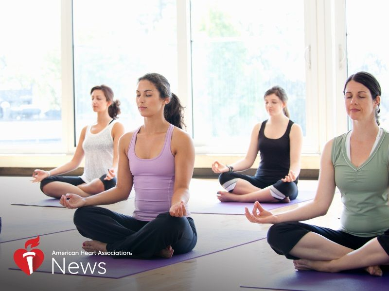 News Picture: AHA News: Is Yoga Heart-Healthy? It's No Stretch to See Benefits, Science Suggests
