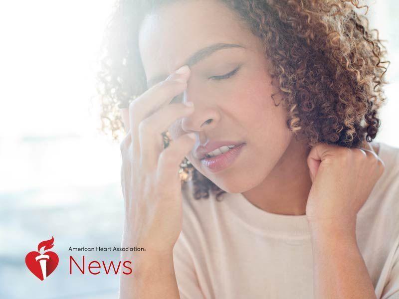 新闻图片:AHA新闻:偏头痛患者需要了解的卒中风险