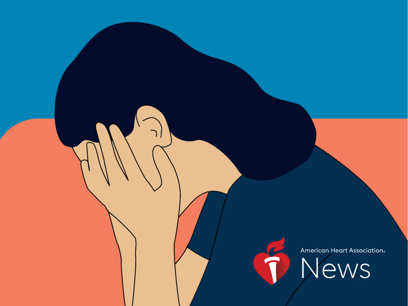 News Picture: AHA News: Persistent Depression Might Increase Heart Disease Risk for Women With HIV
