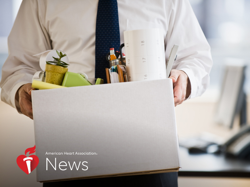 News Picture: AHA News: Can a Pay Cut Hurt Your Health?