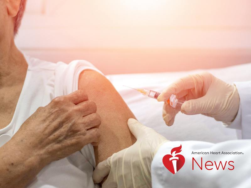 AHA News: Flu Shot May Help Protect Vulnerable Hospital Patients From Heart Attack, Mini-Stroke