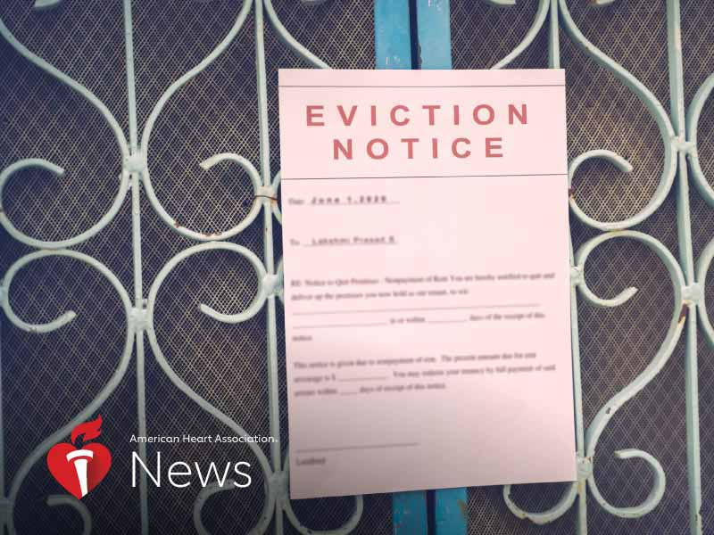 News Picture: AHA News: Looming Wave of Evictions, Housing Instability Pose Threat to Health