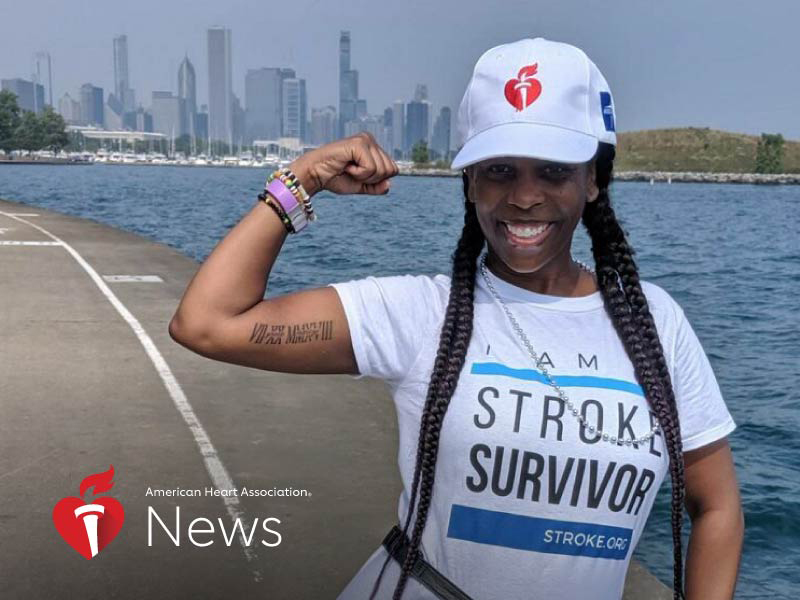 News Picture: AHA News: A Stroke at 37 Meant Relearning Everything
