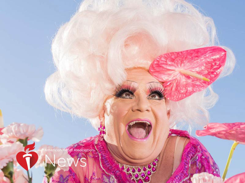 News Picture: AHA News: Beloved San Francisco Drag Queen Spreads Message of Heart Health