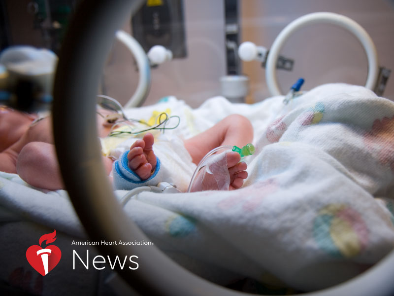 News Picture: AHA News: Study Highlights Heart-Health Issues for Adults Who Were Preemies