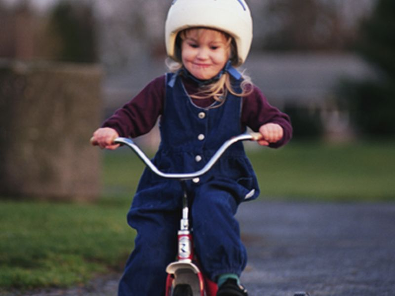 News Picture: Too Many Parents Say No to Helmets for Kids on Wheels