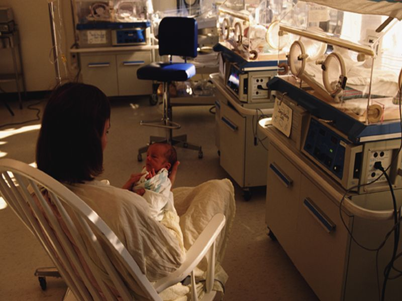 News Picture: For 'Preemies,' Human Touch May Be a Brain Booster