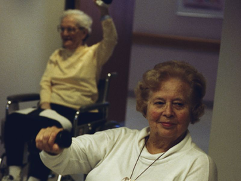 News Picture: Strength Training Might Help Prevent Seniors' Falls