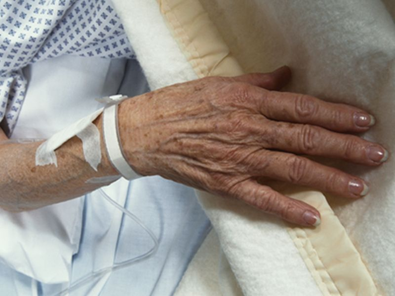 hand of elderly patient