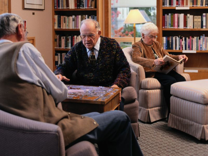 For Many, Friends Are Key to Happiness in Old Age