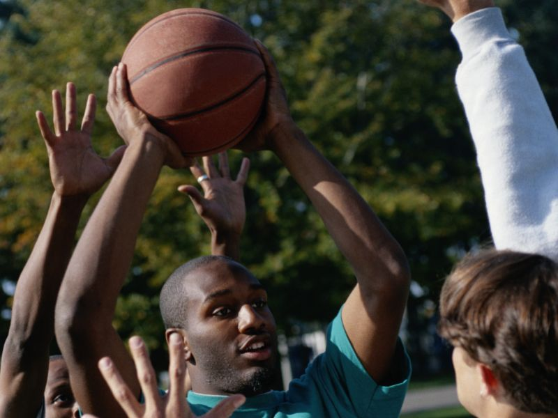 News Picture: Sudden Heart Death More Common in Male Minority Athletes