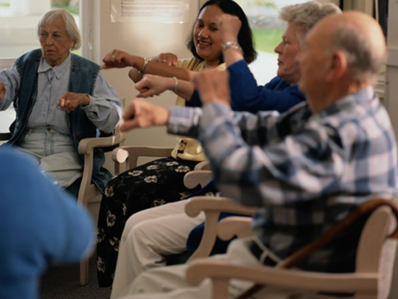 Resistance Band Exercise Aids Nursing Home Residents