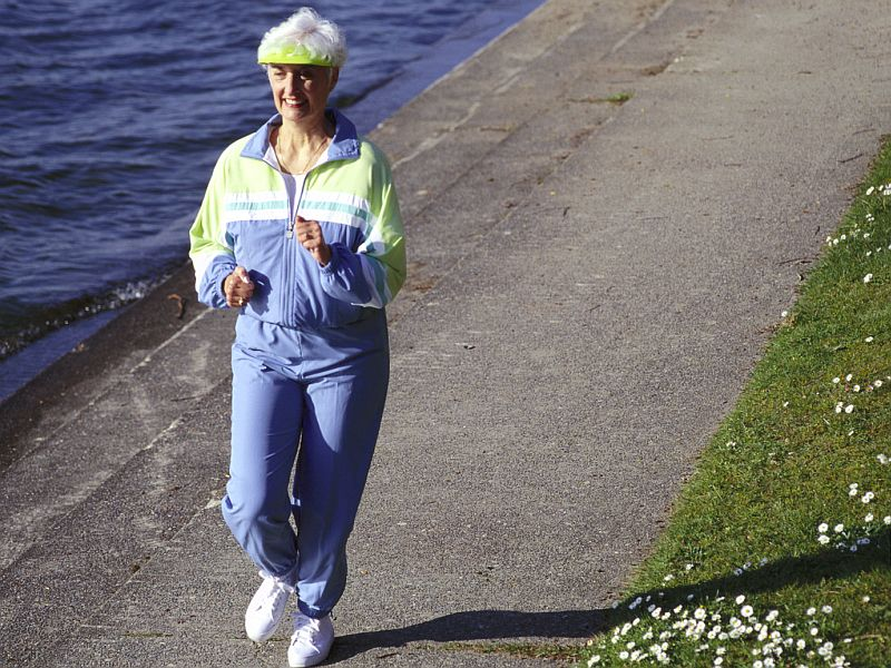 News Picture: Even a One-Minute Run Might Help a Woman's Bones