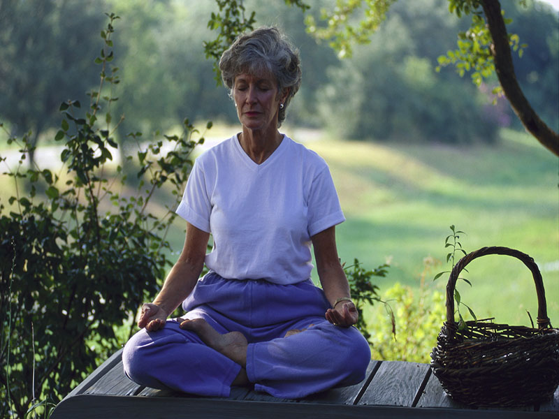 News Picture: Mindfulness Meditation Seems to Soothe Breast Cancer Survivors