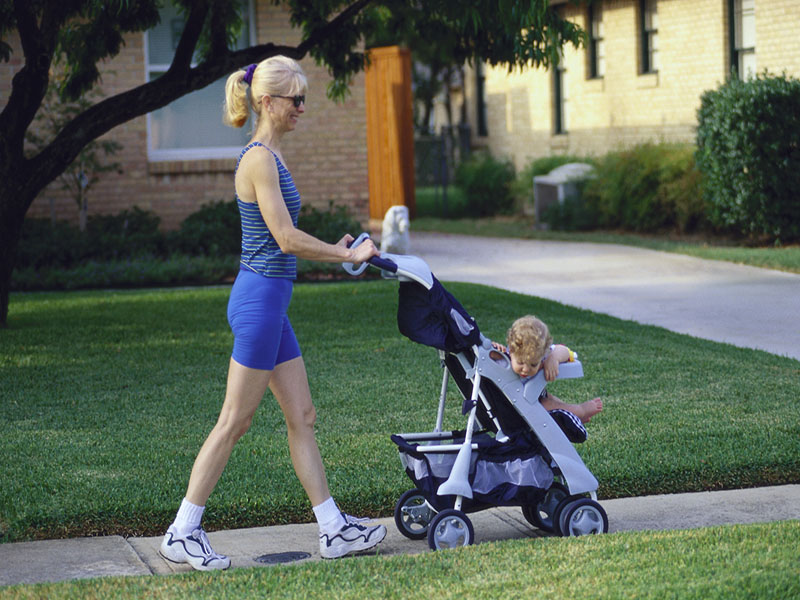 News Picture: Working Out After Baby