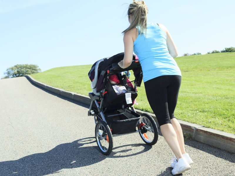 News Picture: A New Mom Shape-Up: Stroller Walking