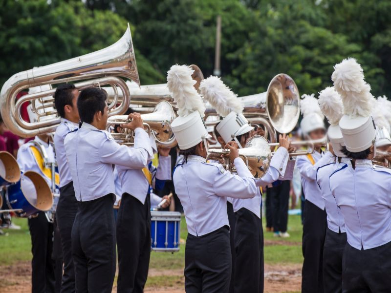News Picture: Marching Band Members Can Use a Physical Tuneup