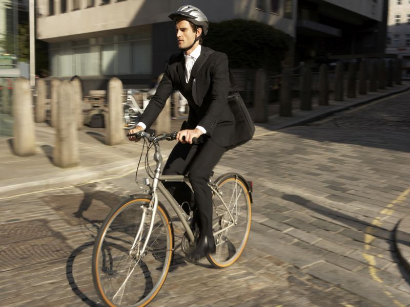 News Picture: Want a Longer Life? Try Biking to Work