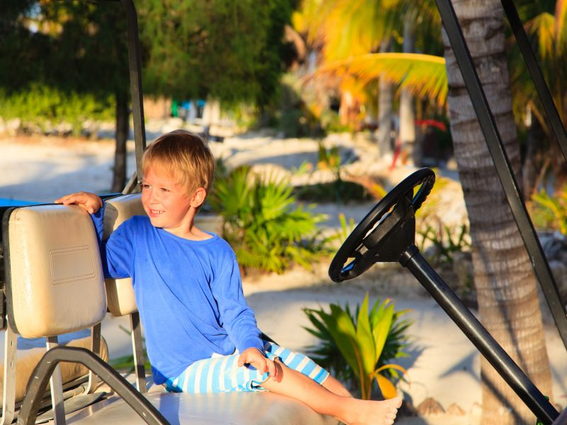 News Picture: Golf Carts' Use Is Spreading, and So Is Danger to Kids