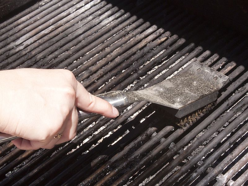 News Picture: The Hidden Danger of Your Wire-Bristle Grill Cleaner