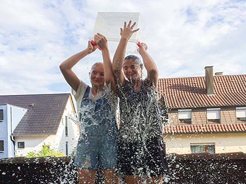 News Picture: 'Ice Bucket Challenge' Funds a Boon to ALS Research
