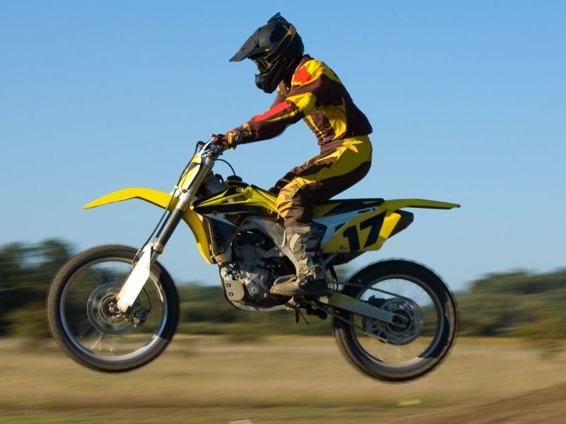 News Picture: Helmets Don't Prevent Kids' Motocross Concussions