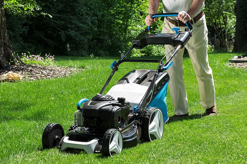 News Picture: Lawn Mowers Can Be an Accident Waiting to Happen