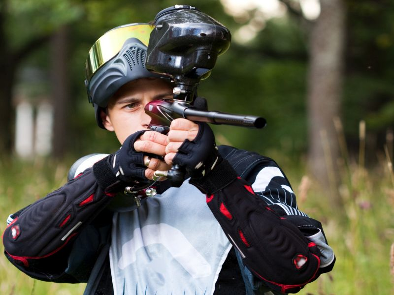 News Picture: Paintball Causes Many Vision-Robbing Eye Injuries