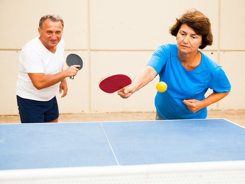 News Picture: Paddles Against Parkinson's: Ping Pong Might Ease Symptoms