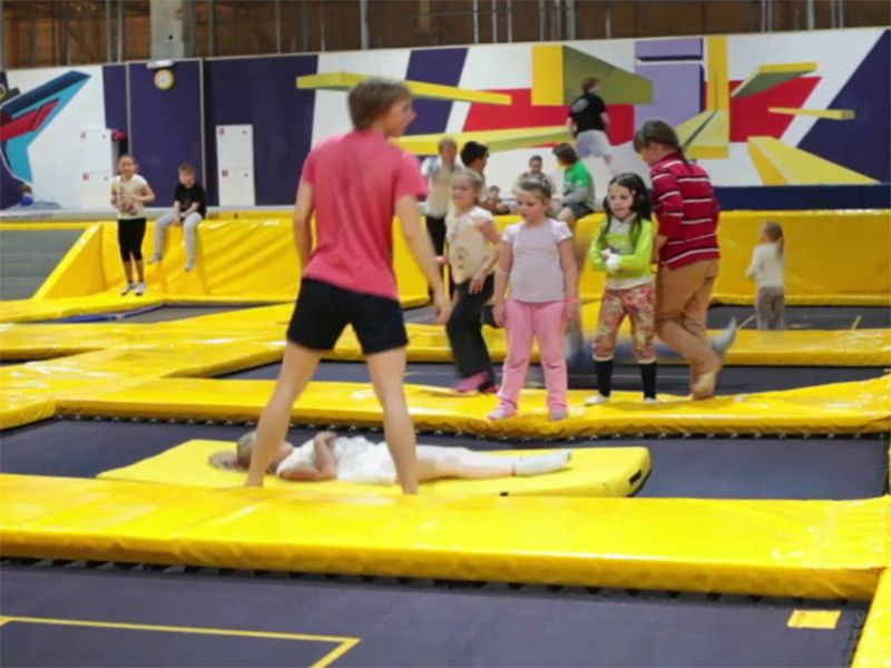 News Picture: Injuries Soar as Trampoline Parks Expand