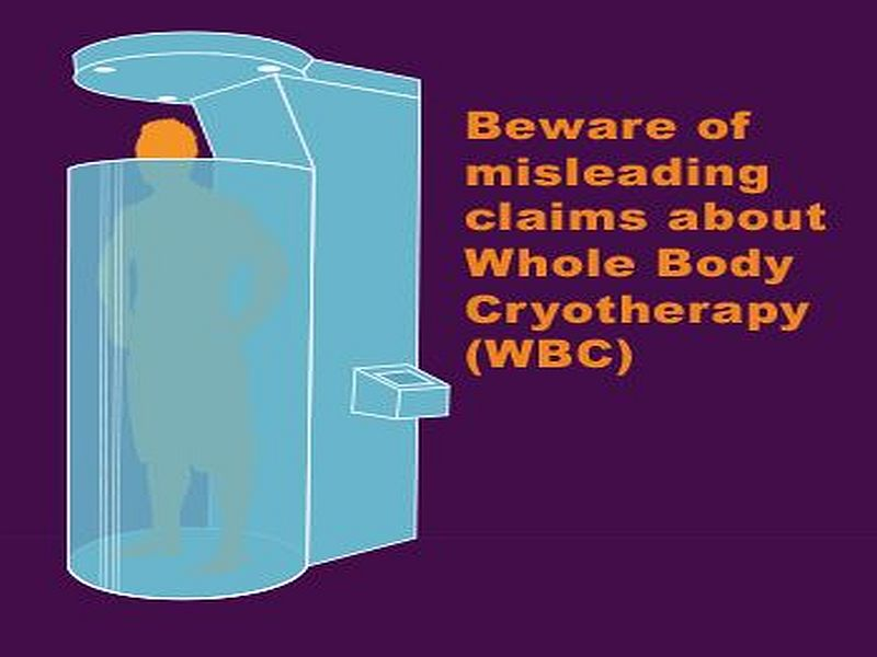 News Picture: Beware Whole Body Cryotherapy Claims, FDA Warns