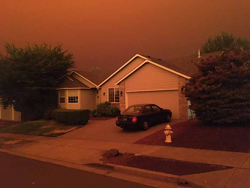 News Picture: West Coast Wildfires, COVID a Double Whammy to Lung Health